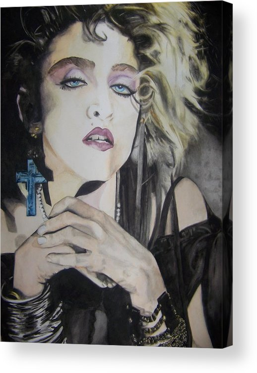 Madonna Acrylic Print featuring the painting Material Girl by Lance Gebhardt