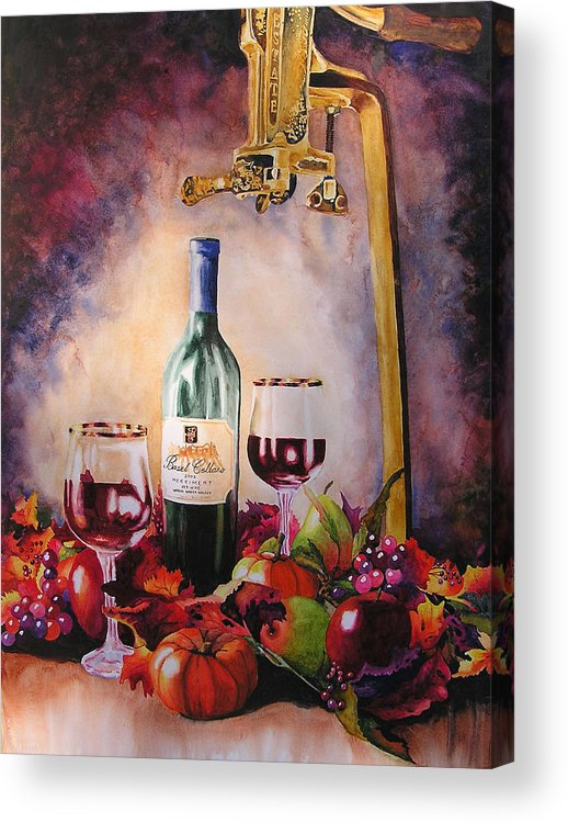 Wine Acrylic Print featuring the painting Merriment by Karen Stark