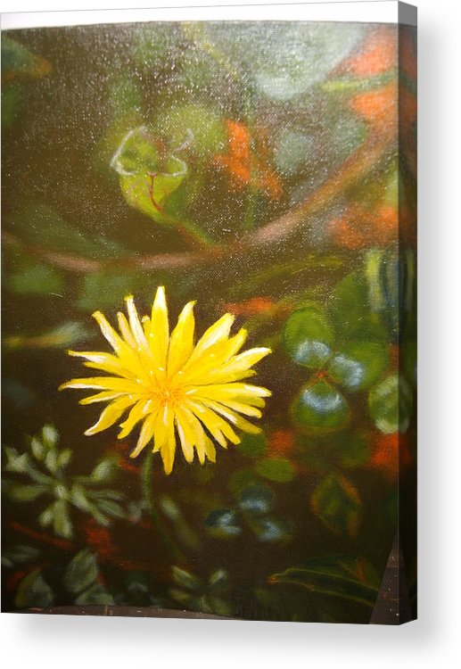 Flower Acrylic Print featuring the painting Mes Peak by Cavelle Ferguson