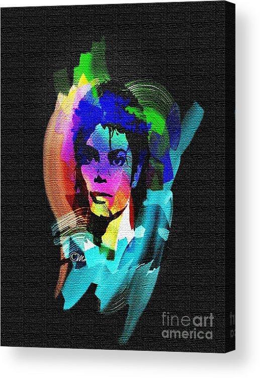 Michael Jackson Acrylic Print featuring the digital art Michael Jackson by Mo T