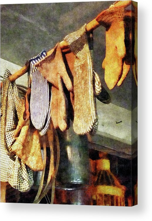 Mittens Acrylic Print featuring the photograph Mittens In General Store by Susan Savad