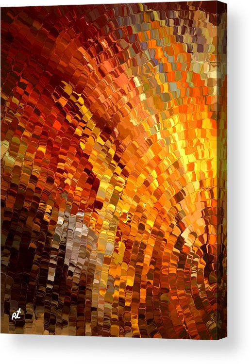 Contemporary Acrylic Print featuring the painting Modern Composition 33 by Rafi Talby