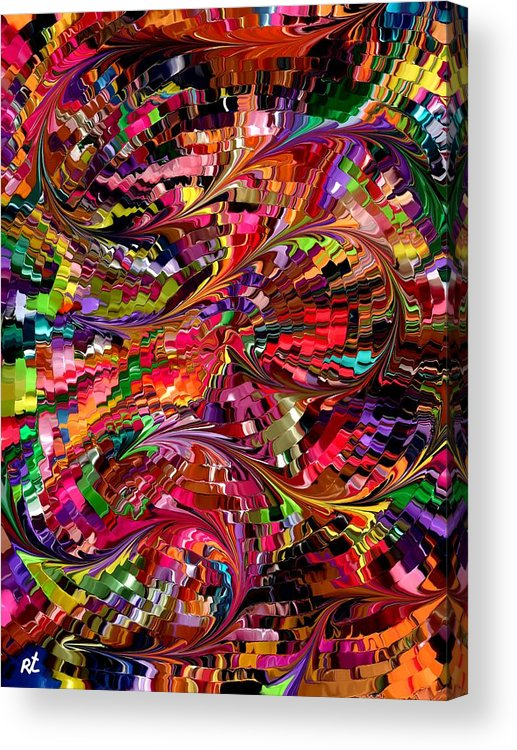 Contemporary Acrylic Print featuring the painting Modern Composition 34 by Rafi Talby
