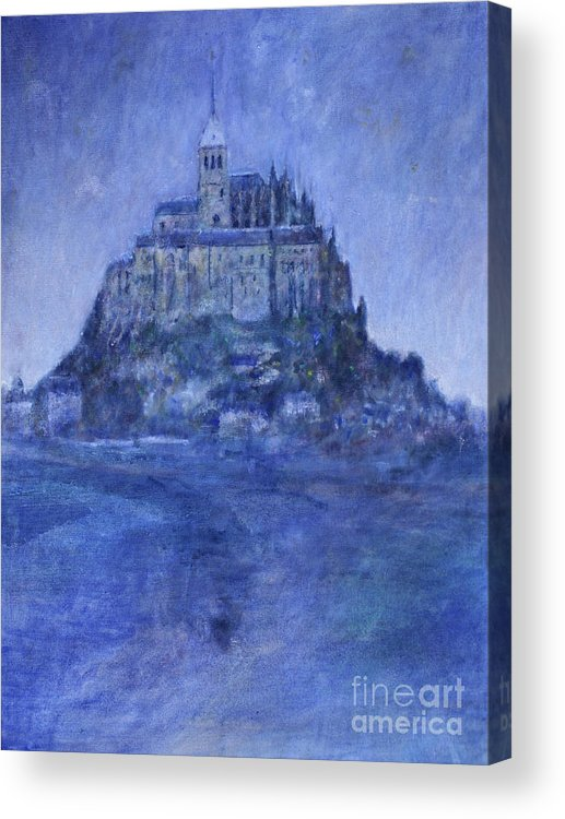 Mont St Michel Acrylic Print featuring the painting Mont St Michel by Andy Mercer