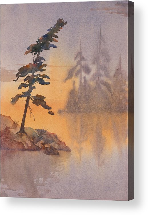 Lake Acrylic Print featuring the painting Morning Mist by Debbie Homewood