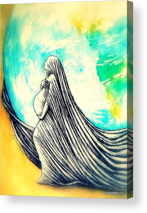 Mother Acrylic Print featuring the digital art Mother by Paulo Zerbato