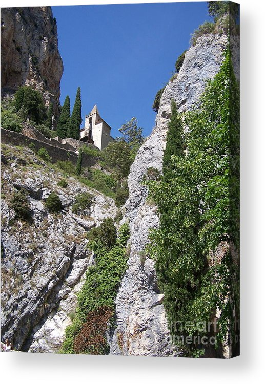 Church Acrylic Print featuring the photograph Moustier St. Marie Church by Nadine Rippelmeyer