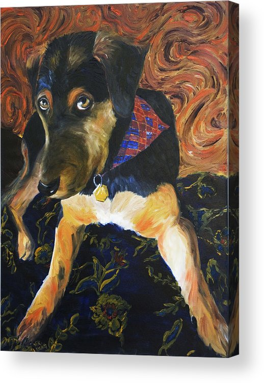 Dog Acrylic Print featuring the painting Murphy I by Nik Helbig