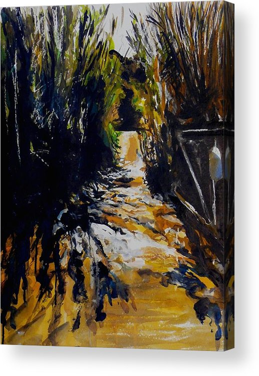 Landscape Acrylic Print featuring the painting Mystery Path by Doranne Alden