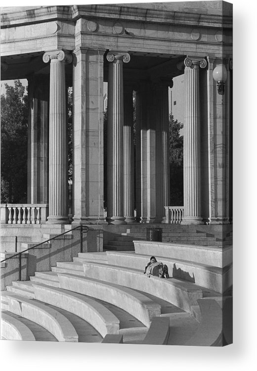 Architecture Acrylic Print featuring the photograph Nap In Civic Park by Jim Furrer