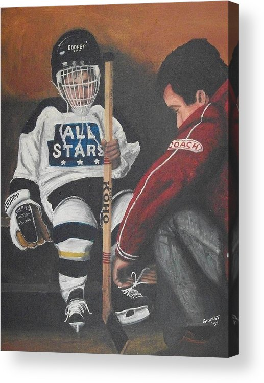 Boy Acrylic Print featuring the painting Nice And Tight by Ron Genest