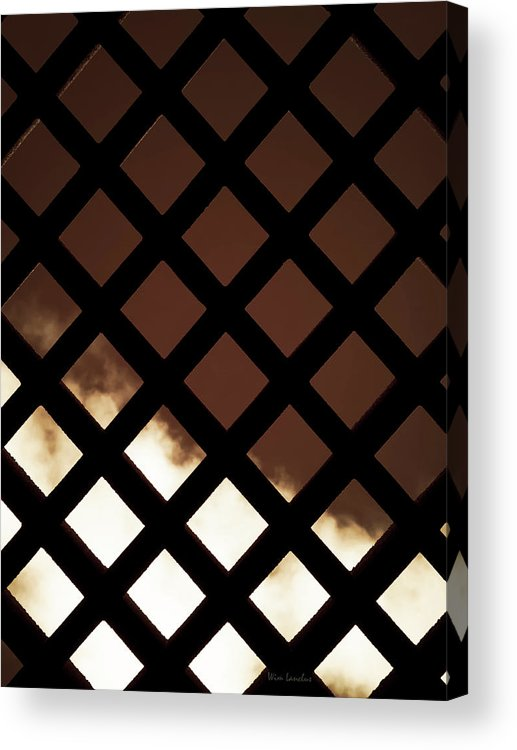 Fence Acrylic Print featuring the photograph No Escape by Wim Lanclus