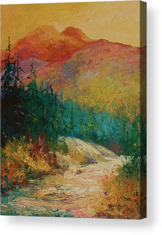 Alaska Acrylic Print featuring the painting Northern Essence by Marion Rose