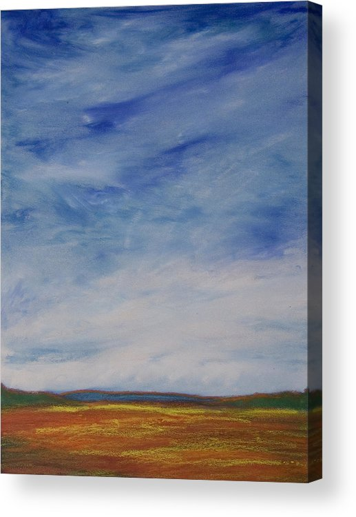 Abstract Landscape Acrylic Print featuring the painting Nothing But Blue Skies by Wynn Creasy