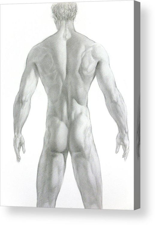 Nude Acrylic Print featuring the drawing Nude 7 by Valeriy Mavlo