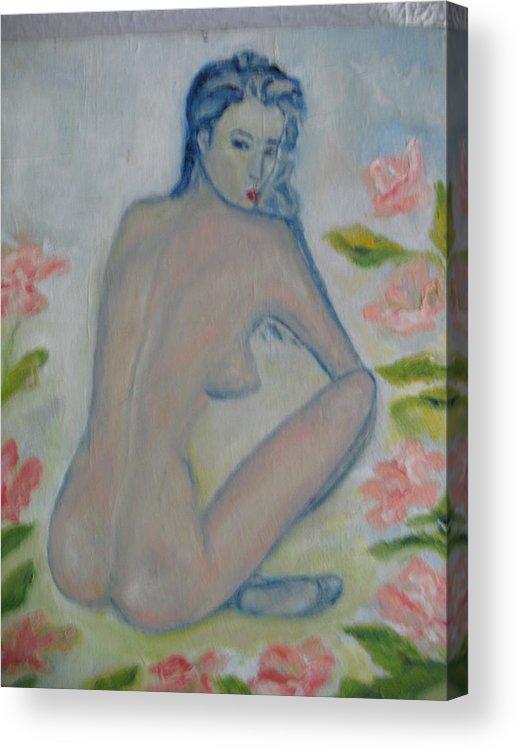 Maria Kolucheva Acrylic Print featuring the painting Nude by Maria Kolucheva