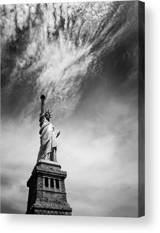 Ny Acrylic Print featuring the photograph Nyc Miss Liberty by Nina Papiorek