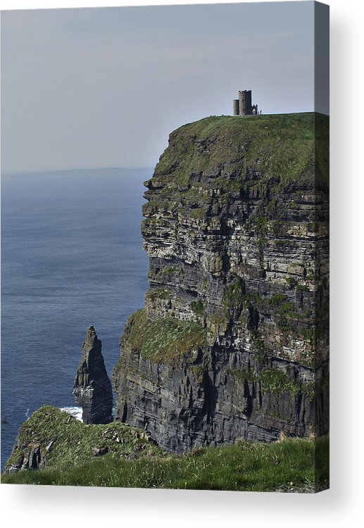Irish Acrylic Print featuring the photograph O Brien's Tower At The Cliffs Of Moher Ireland by Teresa Mucha