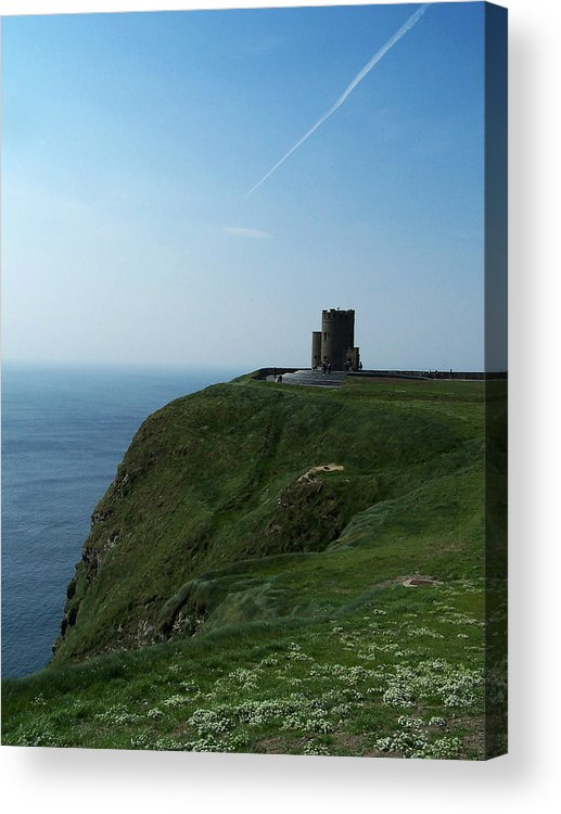 Irish Acrylic Print featuring the photograph O'brien's Tower At The Cliffs Of Moher Ireland by Teresa Mucha