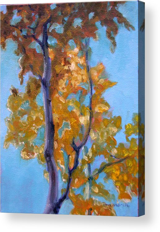 Landscape Acrylic Print featuring the painting October by Tahirih Goffic