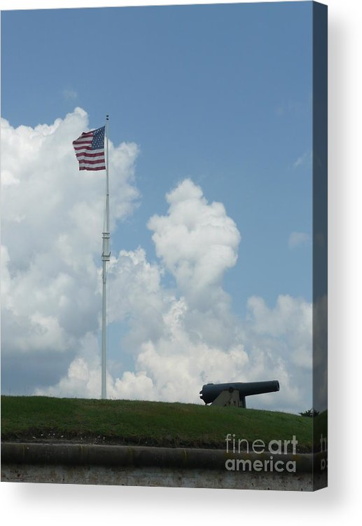 Flag Acrylic Print featuring the photograph Oh Say Can You See by Barb Montanye Meseroll