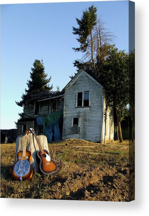 Dobro Acrylic Print featuring the photograph Old Friends by Everett Bowers