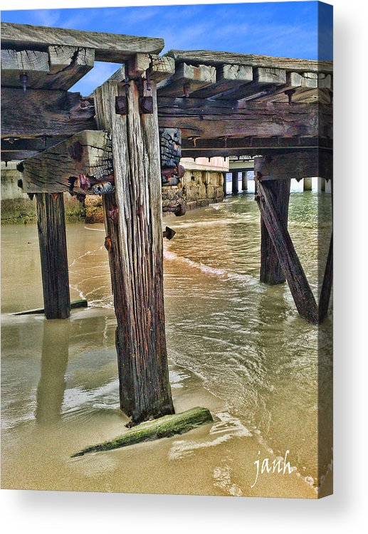 Jetty Acrylic Print featuring the photograph Old Jetty by Jan Hattingh