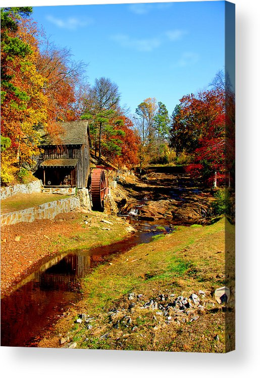 Mill Acrylic Print featuring the photograph Old Mill by Ralph Perdomo