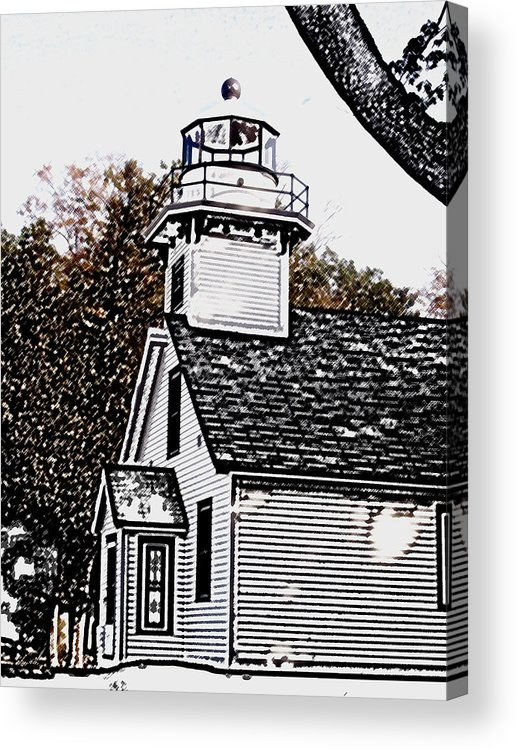 Altered Acrylic Print featuring the photograph Old Mission Point by Wayne Potrafka