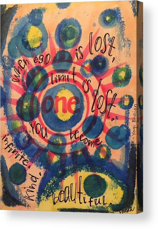 One Acrylic Print featuring the painting One by Vonda Drees
