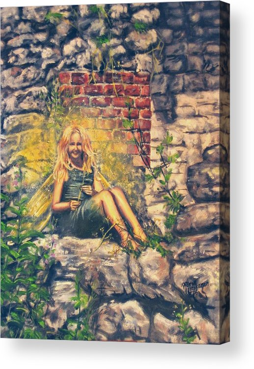 Mythology Acrylic Print featuring the painting Oops You Saw Me by Maren Jeskanen