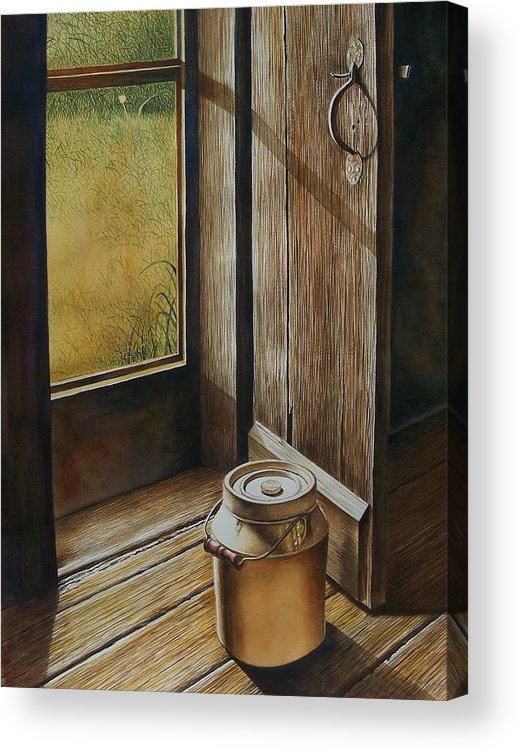 Still Life Or Landscape Acrylic Print featuring the painting Open Door by Arnold Hurley