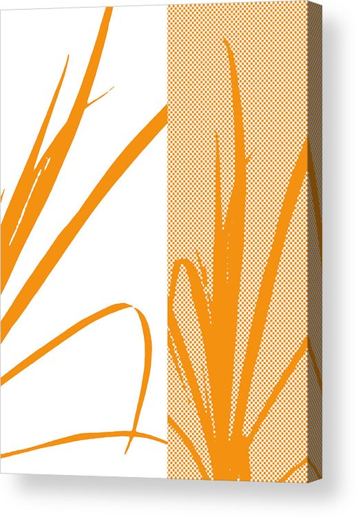 Abstract Acrylic Print featuring the digital art Orange Palm by Ruth Palmer