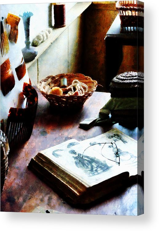 Pattern Acrylic Print featuring the photograph Pattern Book by Susan Savad