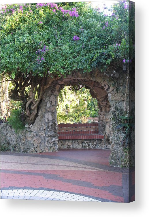 Bench Acrylic Print featuring the photograph Peace Of Mind by Stephanie Richards