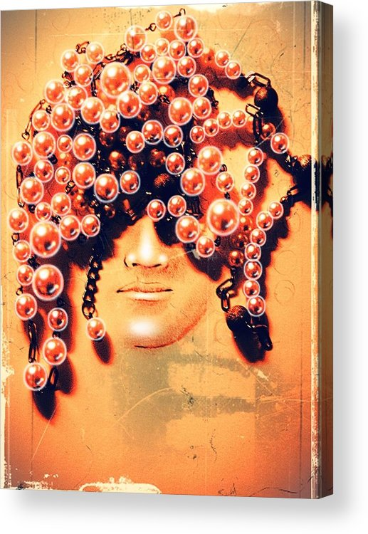 Pearls For Pigs Acrylic Print featuring the digital art Pearls For Pigs by Paulo Zerbato
