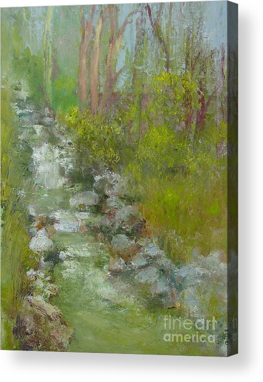 Landscape Acrylic Print featuring the painting Peekskill Hollow Creek by Kathleen Hoekstra