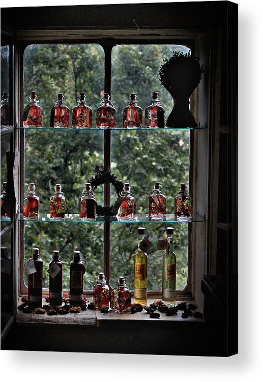 Bottle Acrylic Print featuring the photograph Perfume Bottles by David Resnikoff