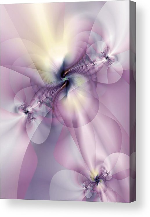 Abstract Acrylic Print featuring the digital art Petals Of Pulchritude by Casey Kotas