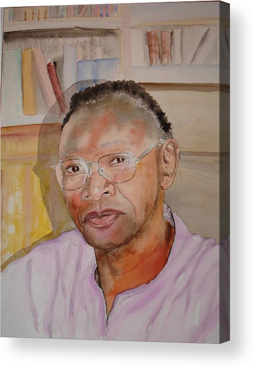 Portrait Acrylic Print featuring the painting Peter Luwaminda Zambia by Colm Brophy