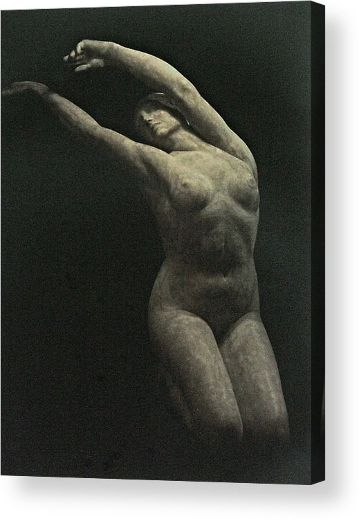 Female Figure Acrylic Print featuring the painting Photo Of Female Sculpture By The Artist by Gary Kaemmer