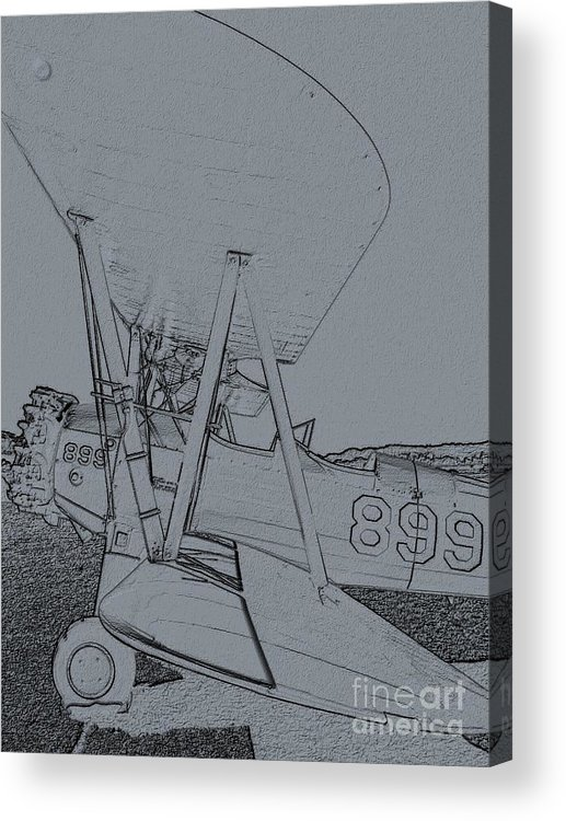 Diane Berry Acrylic Print featuring the digital art Plane 3 by Diane E Berry
