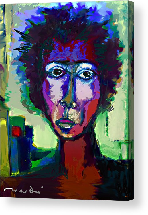 Painting Acrylic Print featuring the painting Poet by Noredin Morgan