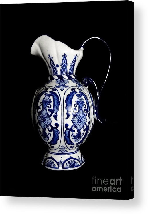 Blue And White Porcelain Acrylic Print featuring the photograph Porcelain 2 by Jose Luis Reyes