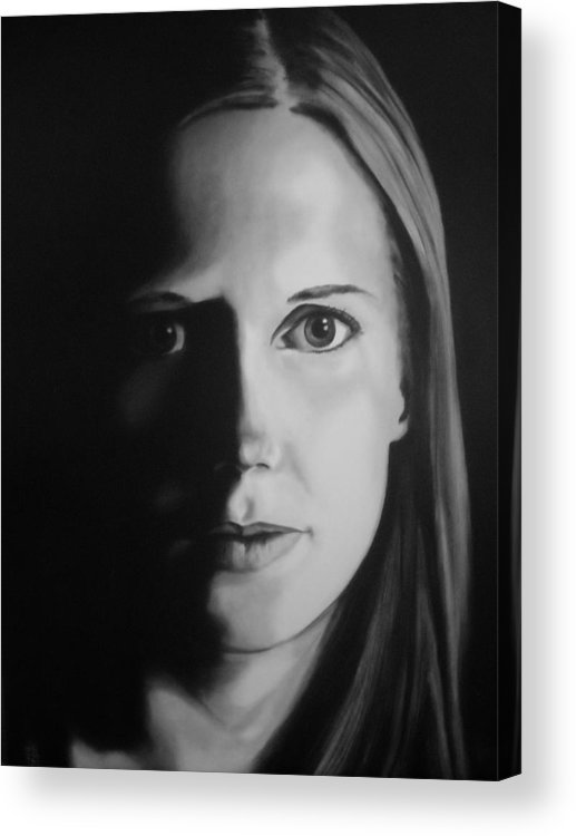 Painting Acrylic Print featuring the painting Portrait Of Michelle C. #3 by Kevin Schmoldt