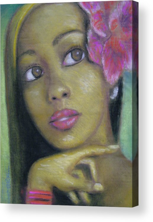 Drawing Acrylic Print featuring the drawing Portrait Of Monica by Jan Gilmore
