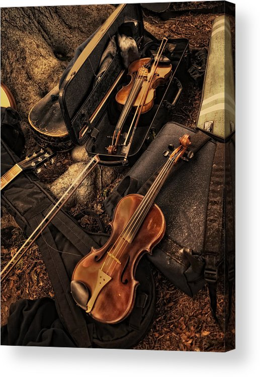 Violin Acrylic Print featuring the photograph Possibilities by Robin-Lee Vieira