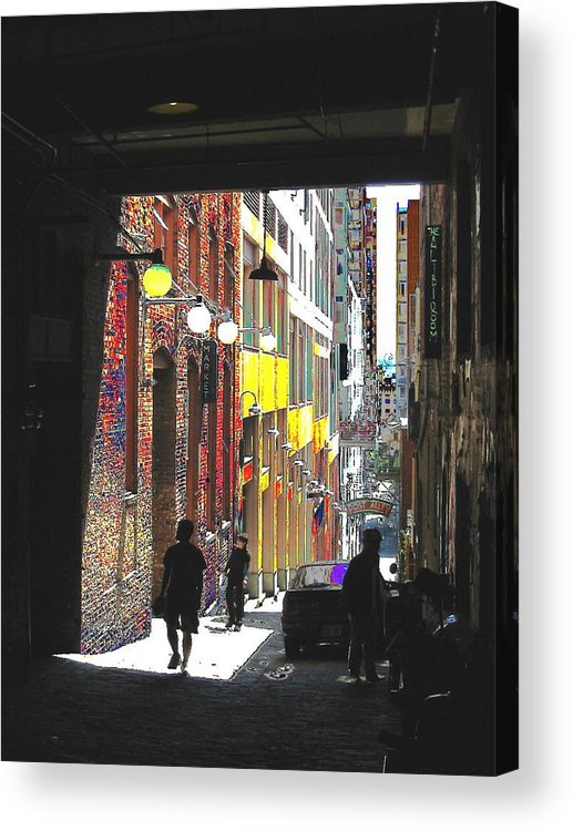 Seattle Acrylic Print featuring the digital art Post Alley by Tim Allen