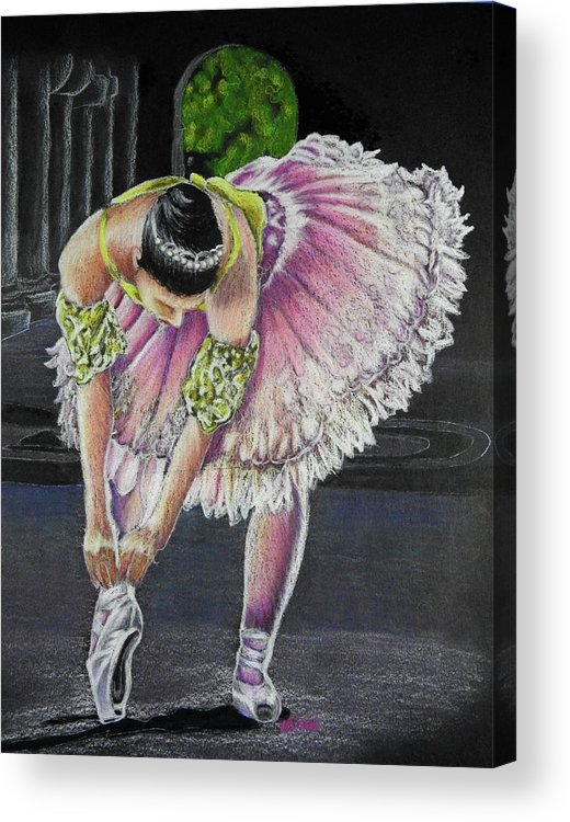 Pink Acrylic Print featuring the drawing Pretty In Pink by Kathy Stocks