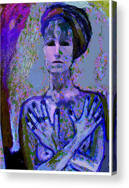 Portrait Acrylic Print featuring the painting Promise by Noredin Morgan